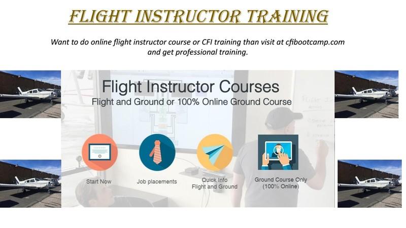 Online Flight Instructor Course - Cfibootcamp