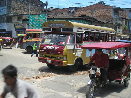 Iquitos - Local transport - Bus   Motor taxi