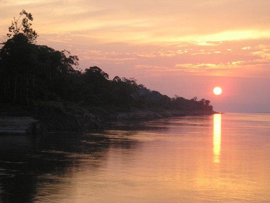 Amazon Boat sunset