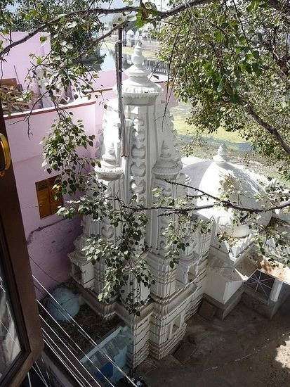 View of temple from bedroom window