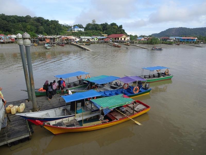 Pontoon for boat to Bako National Park