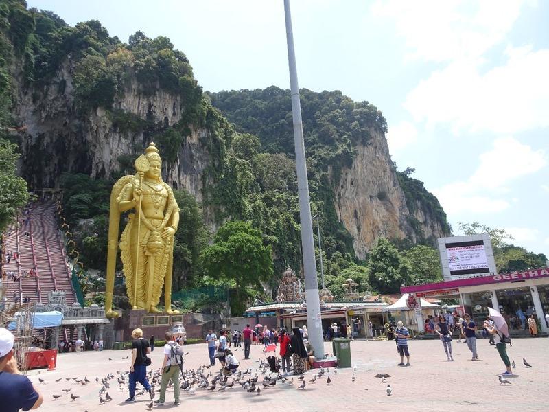 Batu Caves scene on arrival