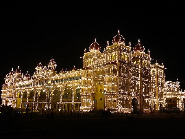 Mysore Palace alight