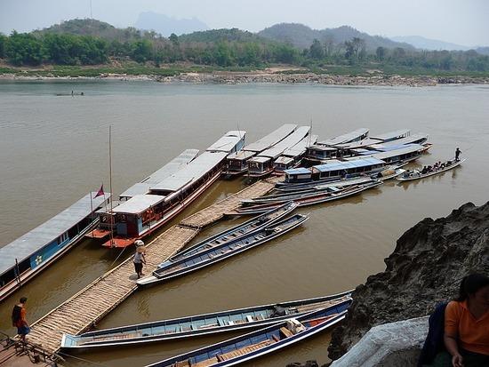 Pak Ou Caves boat landing