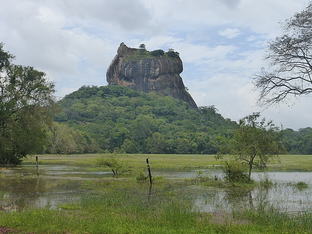 Sigiriya rock from village
