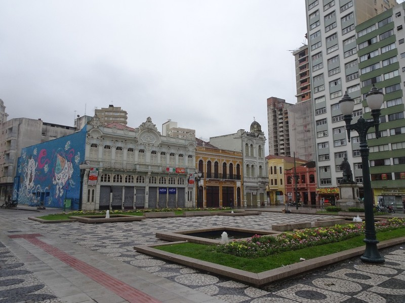 Centro - showing mix of buildings and typical mosaic pavings