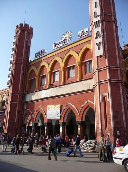 Old Delhi Railway Station entrance   Lindsey