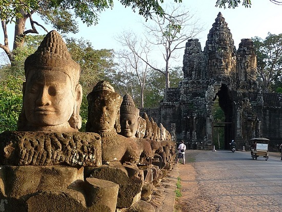 Southern Gate entrance to Angkor Thom