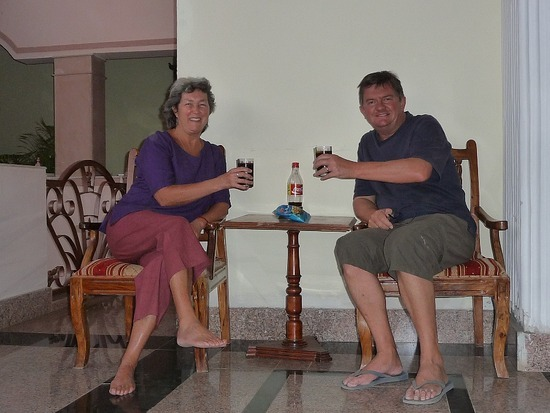 Around hotel - Cheers! Coke of course - no alcohol