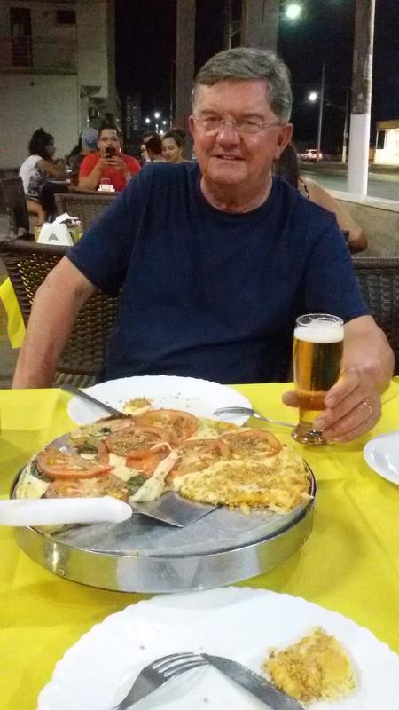 Tasty pizza near Cuiaba airport