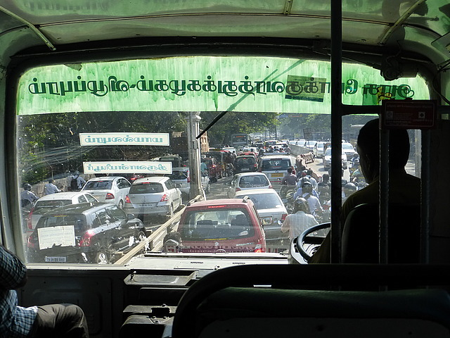 Bus from Chennai and traffic!