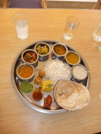 Food and Drink - A typical Thali