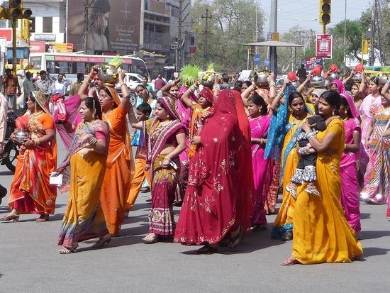 Around Udaipur town - Wedding procession