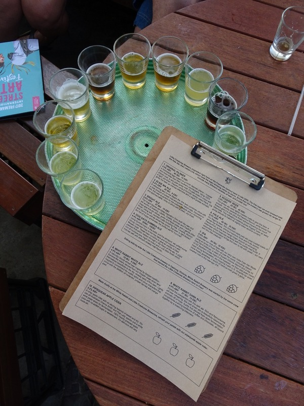 Little Creatures free tasting tray (of 10 brews)