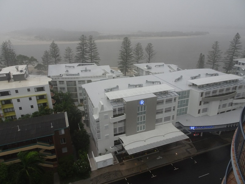 View from apartment during storm