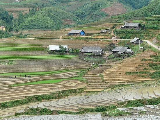 Ta Phin Trek - Terraces and village