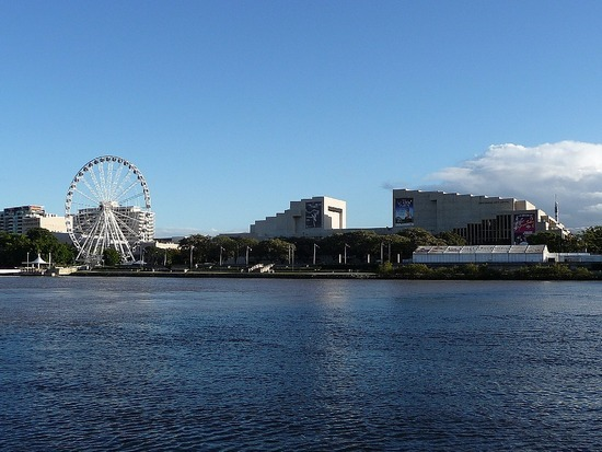 Brisbane by City Cat - Stop off at old Expo site
