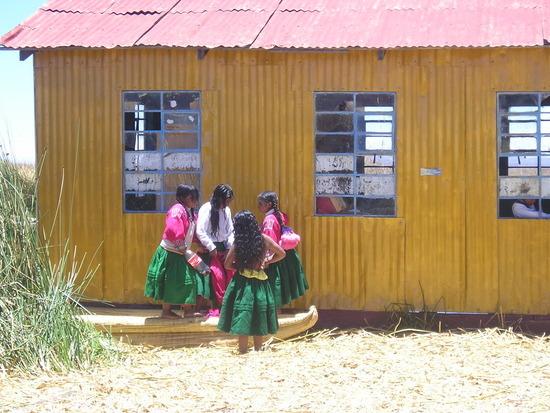 Uros - Floating Islands trip - Local school