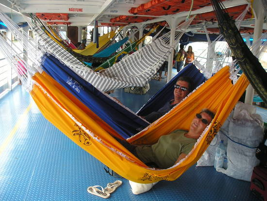 Hammocks up - before the masses arrive
