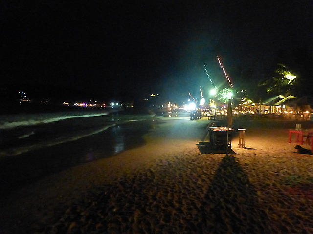 Mirissa - main beach at night