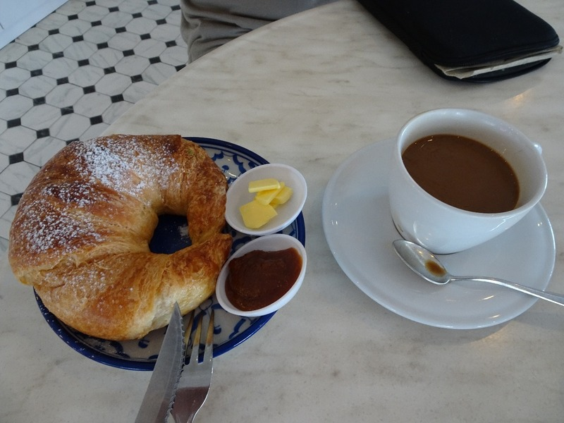 Breakfast - Croissant(!!) and kaya jam