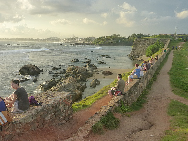 Western ramparts - awaiting sunset (and turtles!)