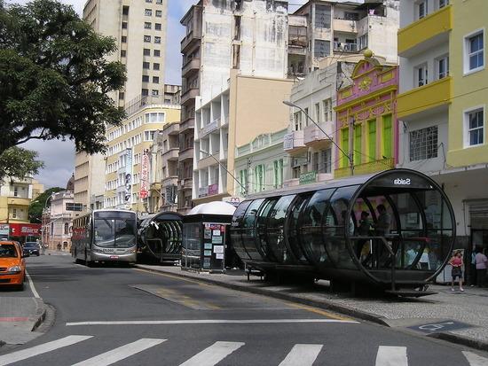 Curitiba - Downtown Bus Stops !