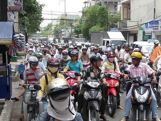 Around HCMC - Typical traffic !