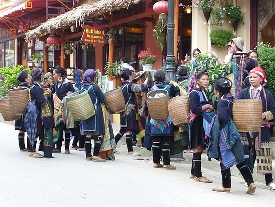 Sapa Town - Sellers and Tourists!
