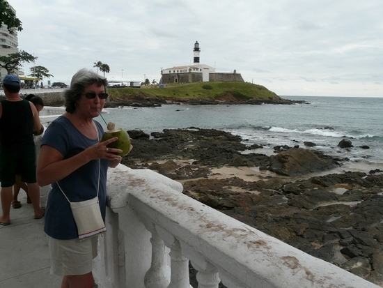 Salvador - Coconut juice - lovely!