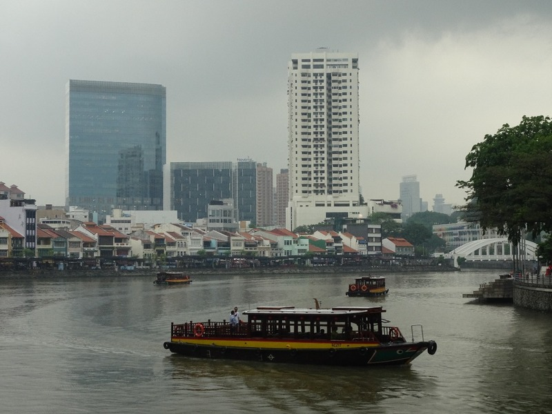 Last day - grey day views! Singapore river