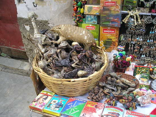 La Paz - Witches Market stall - don't ask!