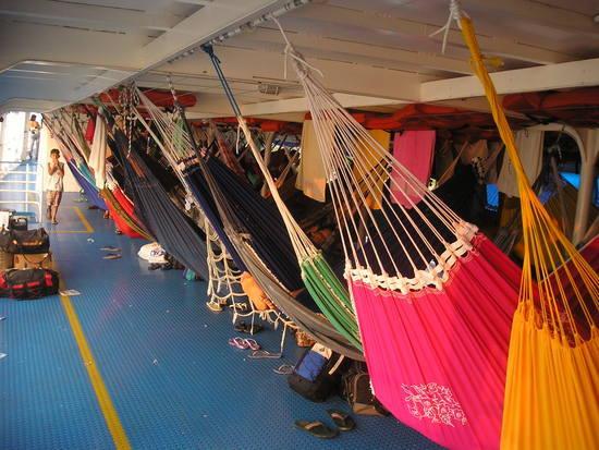 Amazon Boat - hammocks 1