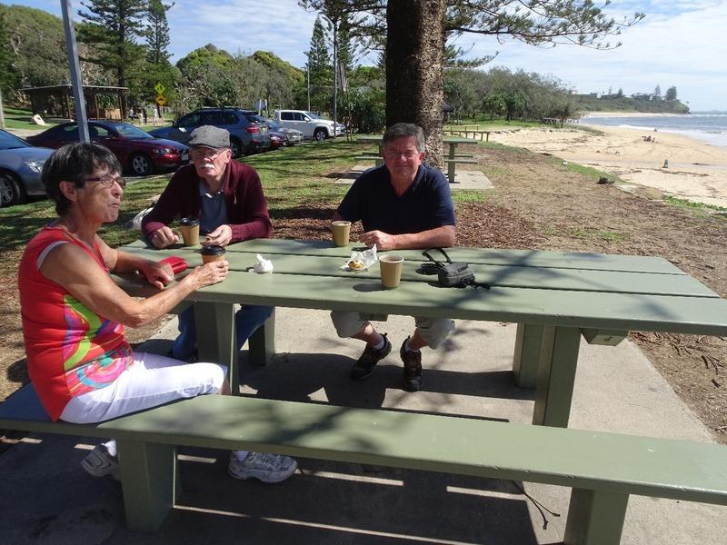 Morning coffee at Shelley Beach