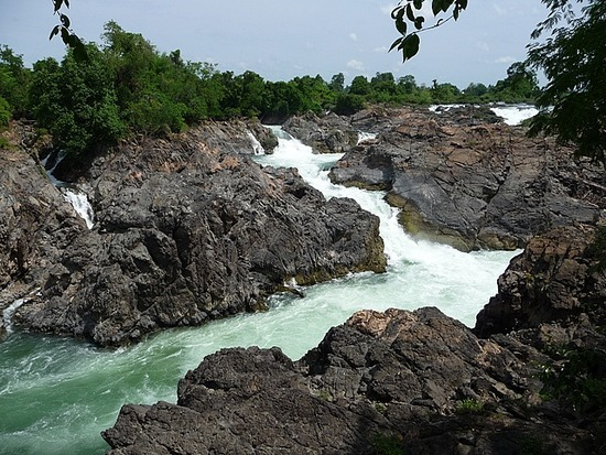 Cycling round Don Khon - Waterfall 2