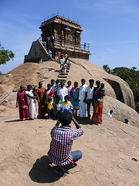 Temple on Mamallapuram hill - Photo opportunity