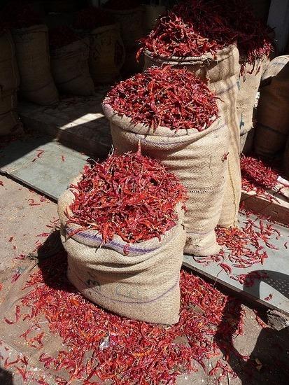 Around Udaipur town - Spicey!