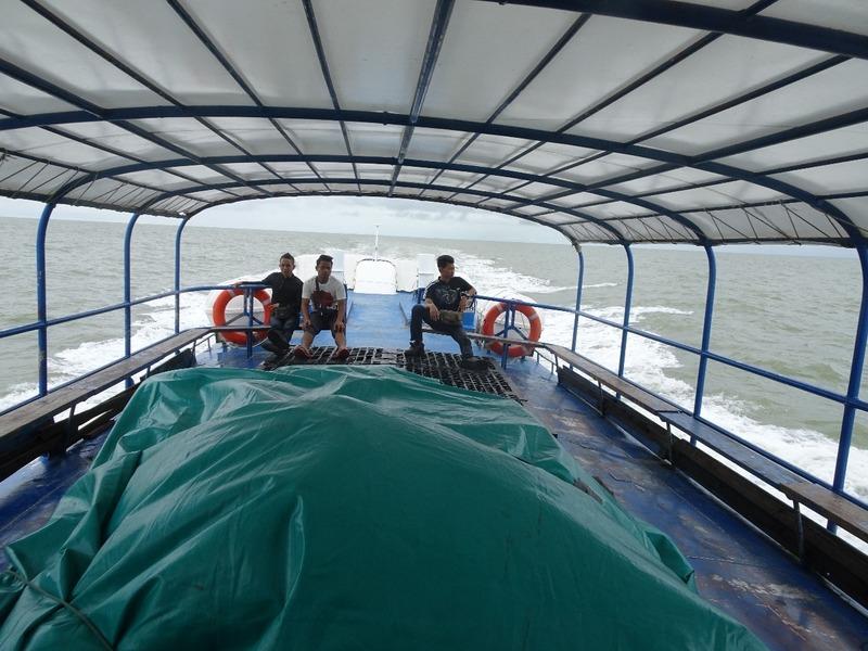 out at sea