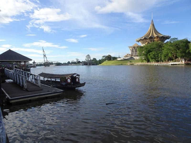 Kuching waterfront and Sarawak Assembly building