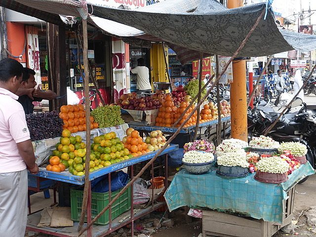 Around Town - fruit and petal sellers 2