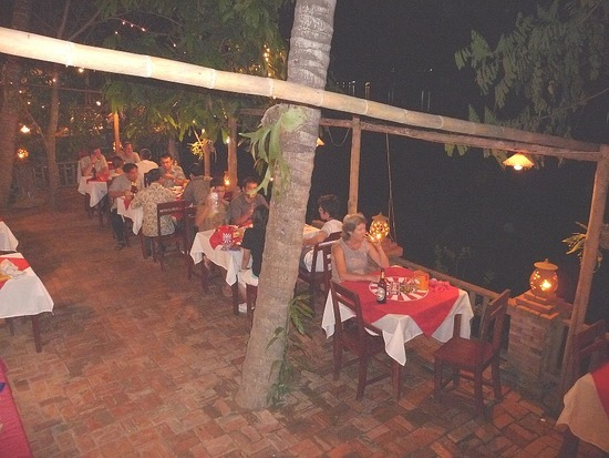 Evening dining by the Mekong