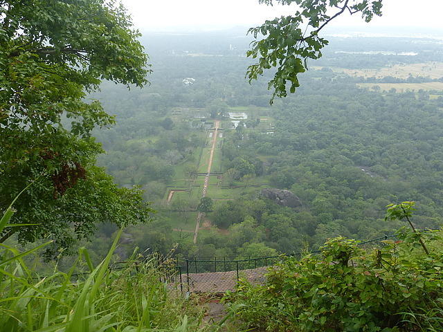 Water gardens from top of Sigiriya rock 1