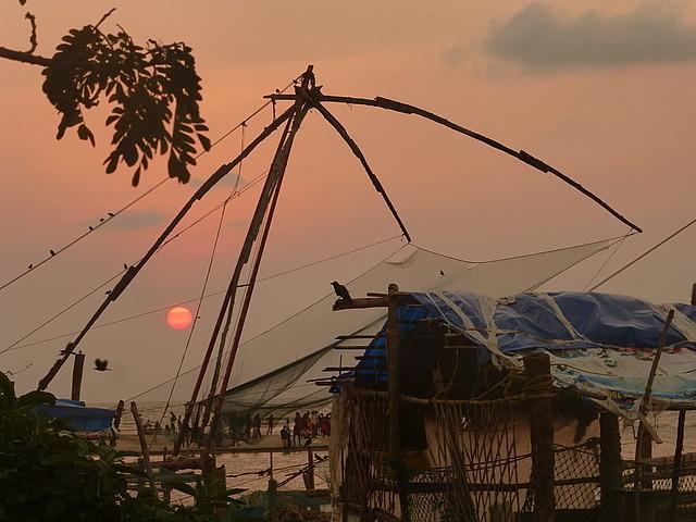 Cochin - Sunday at sunset time