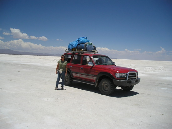 Toyoto Freewheeler on Salar de Uyuni