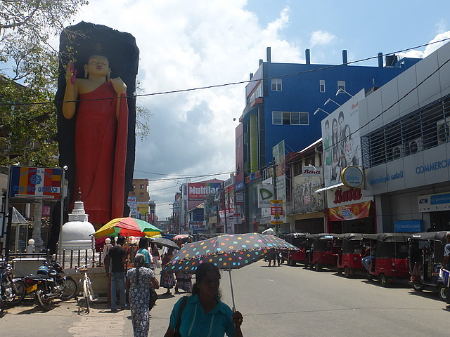 Galle new town with buddha