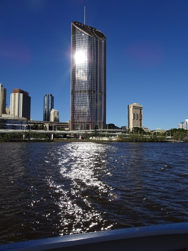 Downtown buildings from the river