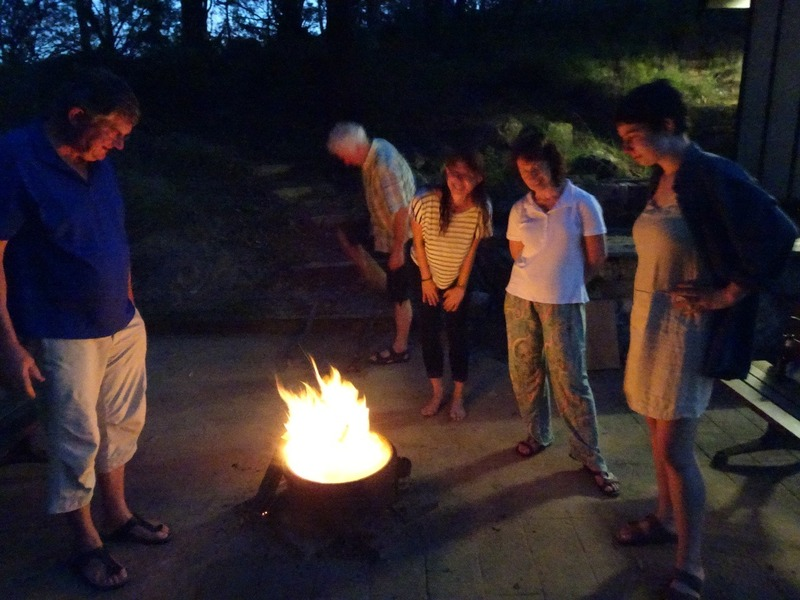 Pittwater YHA - Round the fire