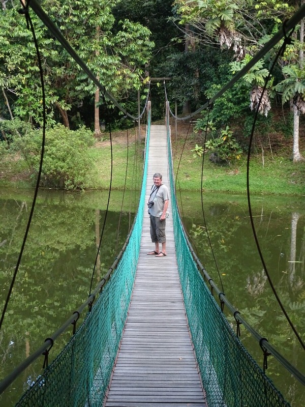 RDC - suspension bridge over lake