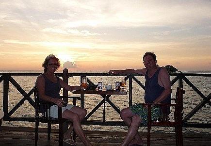 Sunset at Kalong - Calipso Bar