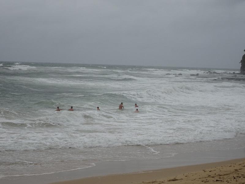 Moffat Beach - storm approaching